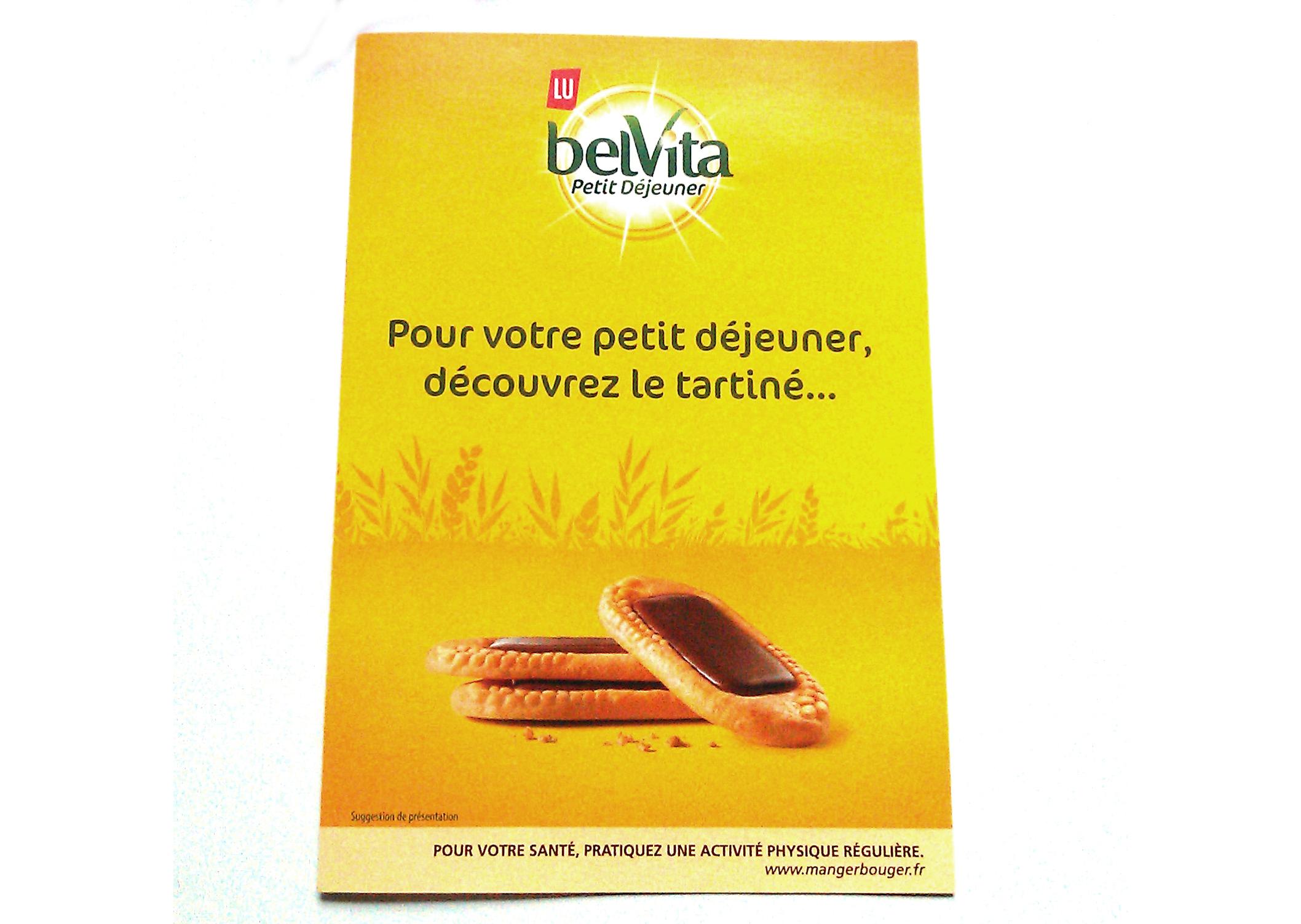 Affiche de campagne du produit Belvita de la marque Lu