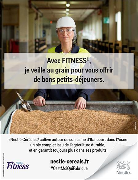 Affiche de la campagne publicitaire : Neslé #cestMoiQuiFabrique