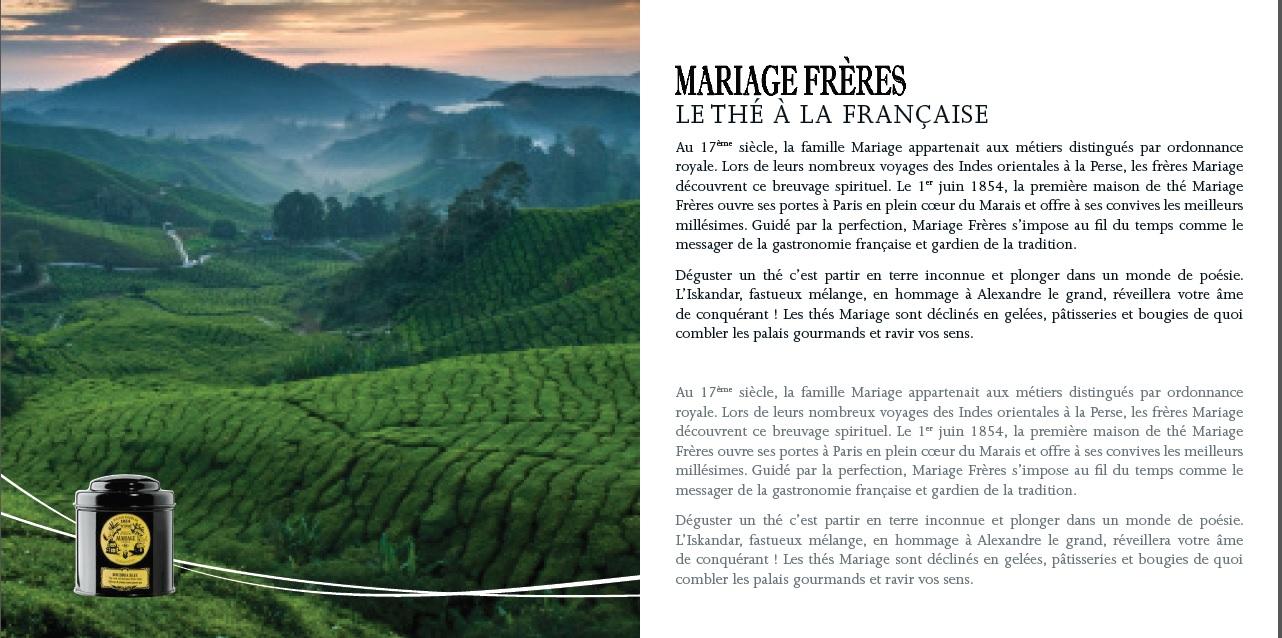 livret by paris duty free page marque : mariage frères