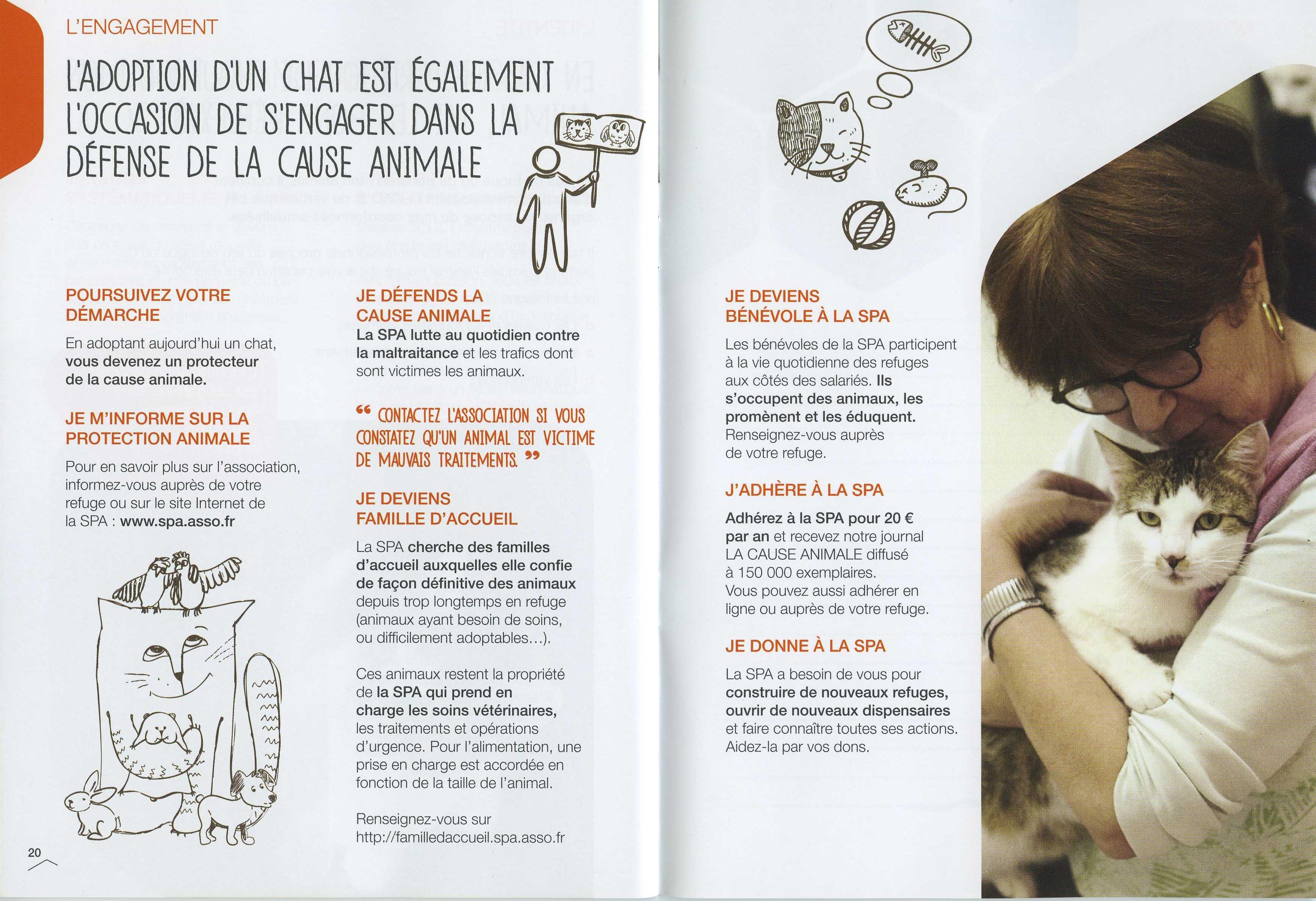 livret d'adoption de la SPA - s'engager pour la cause animale