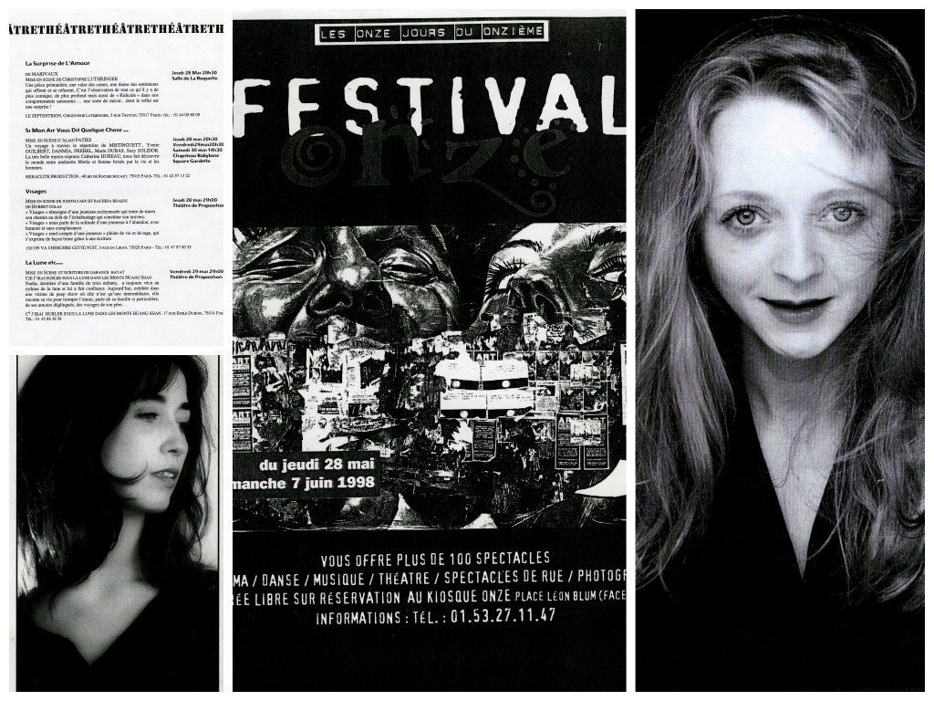 Photomontage des affiches du Festival Onze