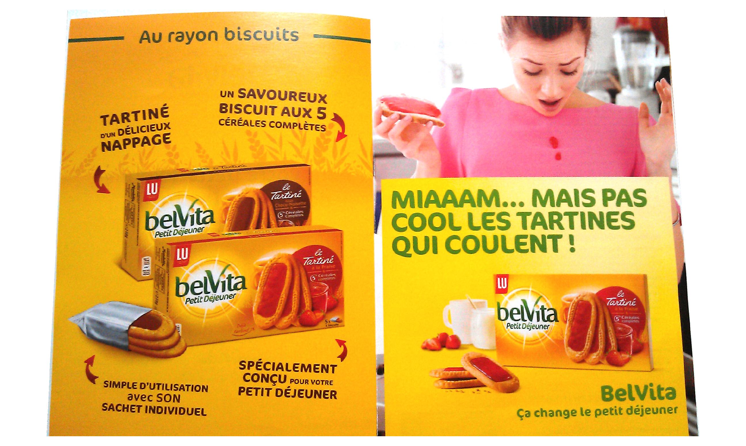 Présentation de la campagne pour les produits belvita de la marque Lu