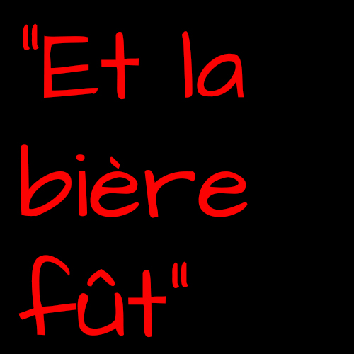"""Slogan de Garance Hayat pour Affligem : """"et la bière fût"""""""